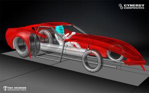 C7 Pro Mod, CAD, 3D