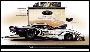 Danny Rowe unveils new Agave Underground Tequila C7 Corvette Pro Mod